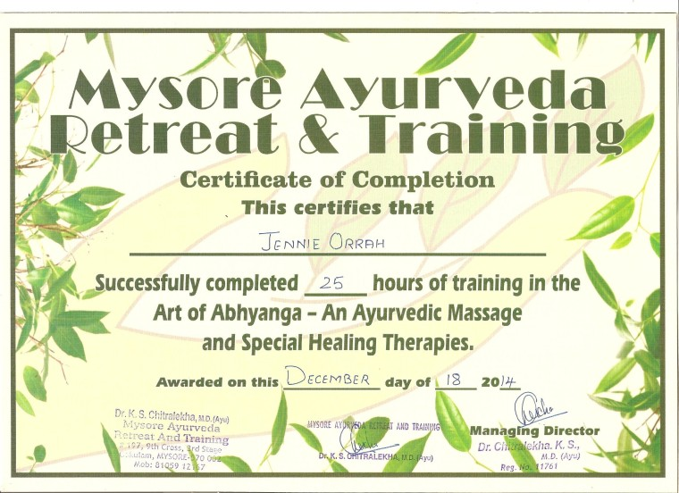 ABHYANGA Certificate Dec 2014