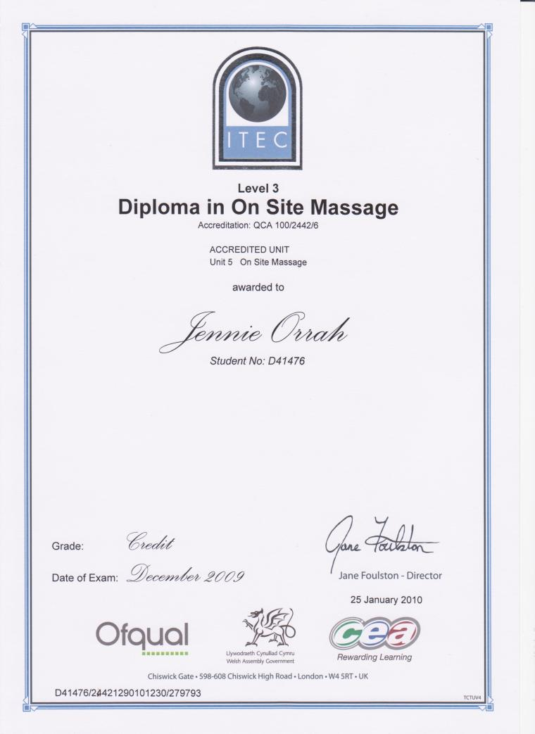 On-Site Massage Diploma