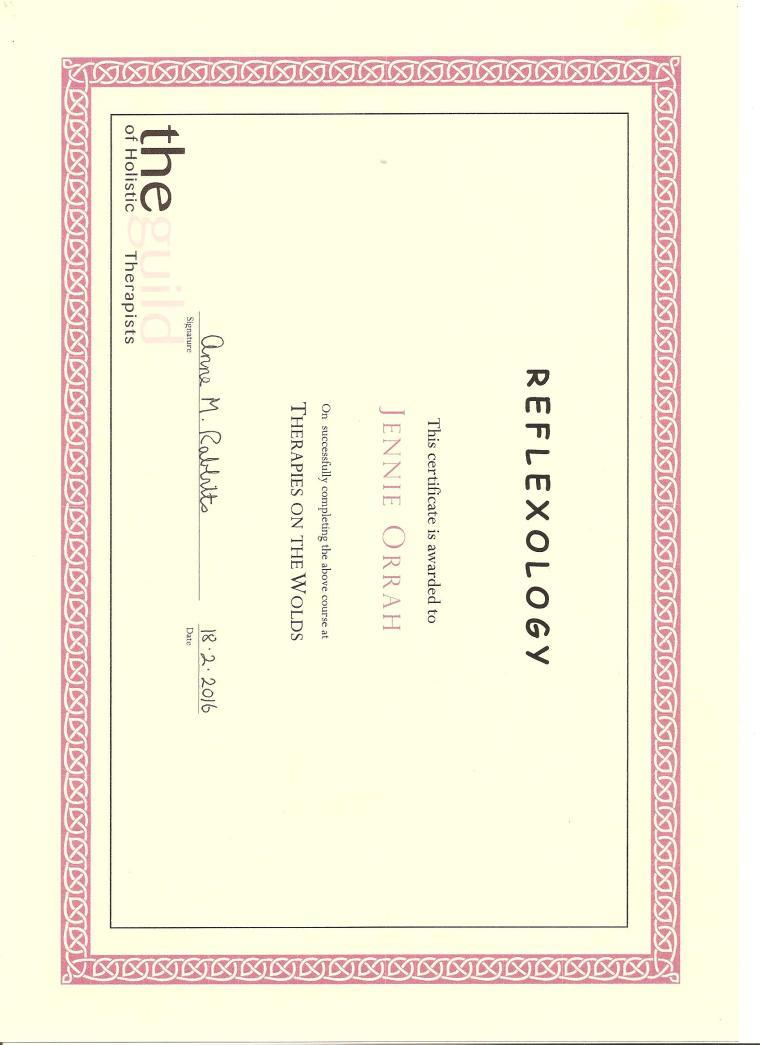 Reflexology Certificate