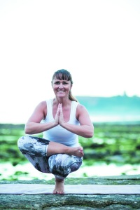 Yoga Half Lotus Toe Balance